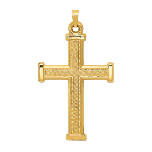 Large Latin Design Cross Pendant