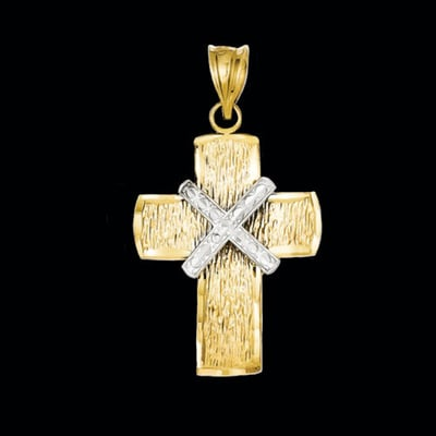 Unique Two Tone Cross