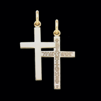 "Large ""Lord's Prayer"" Cross Pendant"