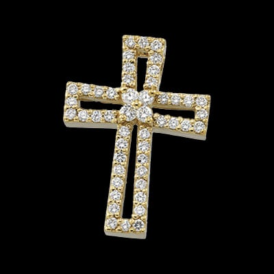 Open Design Diamond Cross