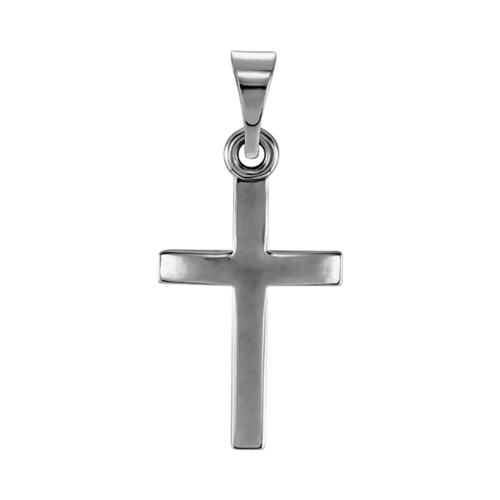 Platinum Traditional Cross Pendant