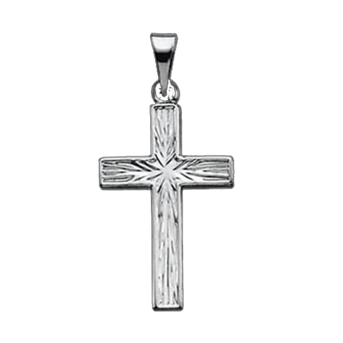 Casual Platinum Cross Pendant