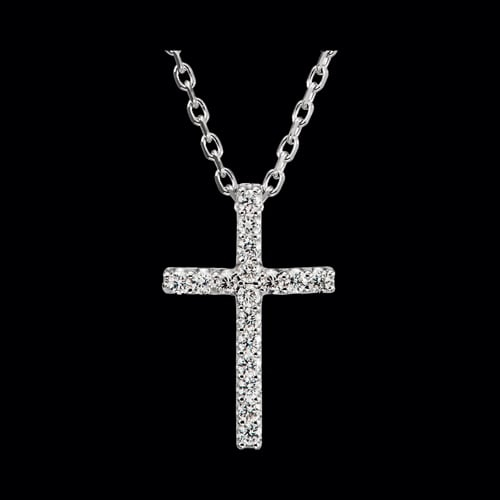 Platinum Cross Necklace