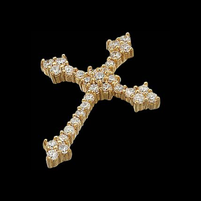 Dazzling Diamond Cross Pendant