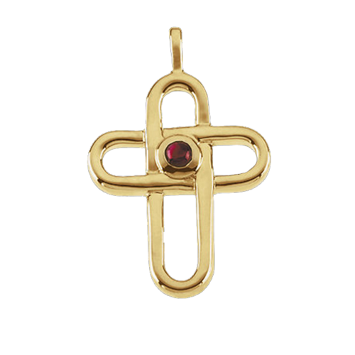Ruby Gold Cross