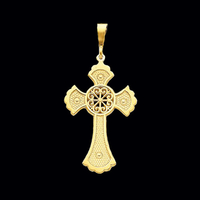 Gold Celtic Design Cross Pendant