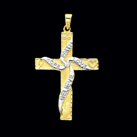 Fancy Large Cross Pendant