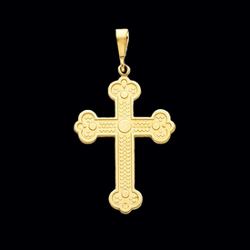 Large Budded Cross Pendant