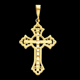 Large Cross Pendant Gold Iona Cross Pendant