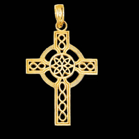 Diamond Cut Celtic Cross Pendant