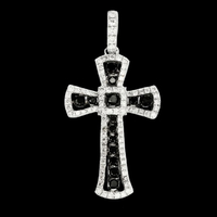 Diamond Cross Fashionable Black & White Diamond Cross