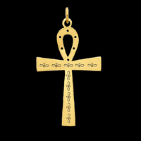 Laser Design Ankh Cross Pendant