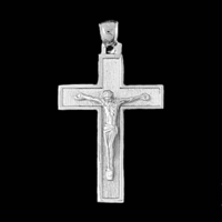 White Gold Crucifix Pendant