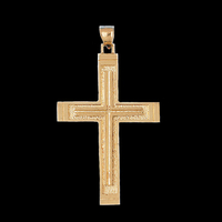 Jumbo Gold Cross Pendant