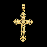 Fleur de Lis Inspired Large Cross