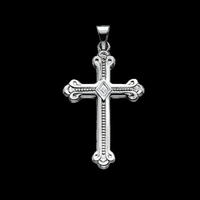 Elegant Platinum Cross Pendant