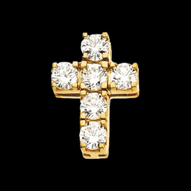Brilliant Diamond Cross Pendant