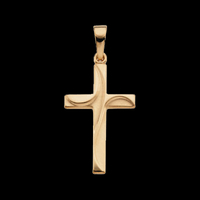 Gold Swirl Cross Pendant