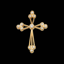 Trio Design Diamond Cross
