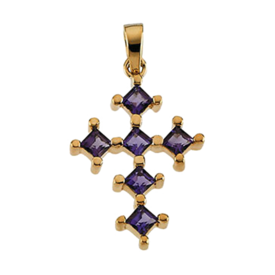 Amethyst Gemstone Cross Pendant