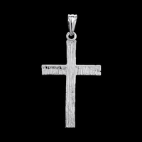Bark Finish Gold Cross Pendant