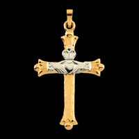 Claddagh Two Tone Cross