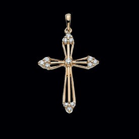 Diamond Cross Cross Diamond Pendant