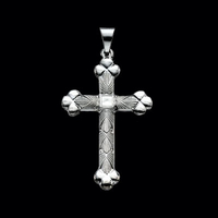 Platinum Fancy Cross Pendant