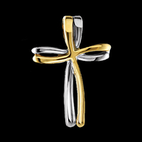 Dual Design Gold Cross Pendant