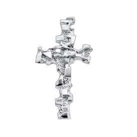 Platinum Cross Platinum Nugget Cross Pendant
