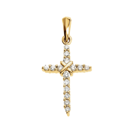 Dainty Diamond Cross Pendant