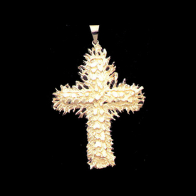 Large Cross Pendant Big Gold Nugget Cross