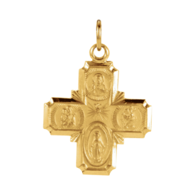 Gold Cross Pendant Gold Four-Way Cross Pendant