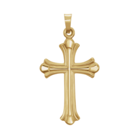 Gold Cross Pendant 14kt Yellow Gold Cross Pendant