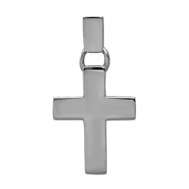 Gold Cross Pendant White Gold Bold Cross