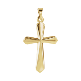 Gold Cross Pendant 14k Gold Pendant Cross