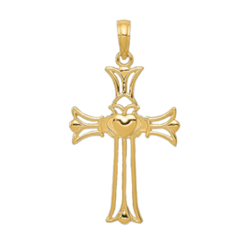Open Cladagh Gold Cross