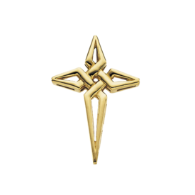 Gold Cross Pendant Angle Cross