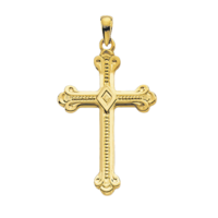 Gold Cross Pendant Large Dressy Gold Cross