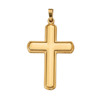 Classic Gold Polished Cross Pendant