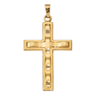Unique Gold Cross Pendant