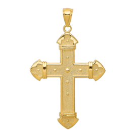 Gold Cross Pendant Royal Gold Cross Pendant