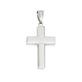 Gold Cross Pendant 14k White Gold Hollow Cross Pendant