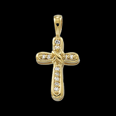 Dainty Diamod Cross Pendant