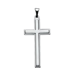 Distinctive Platinum Cross Pendant