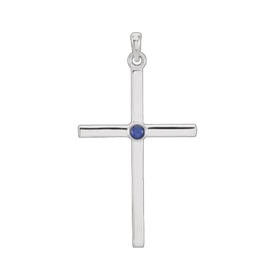 Gemstone Cross Platinum Gemstone Cross Pendant