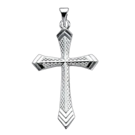 Platinum Mesh Passion Cross