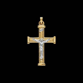 Two Tone Gold Crucifix