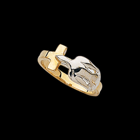 Cross and Holy Spirit Ring
