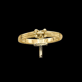 Specialty Items Gold Cross Dangle Ring